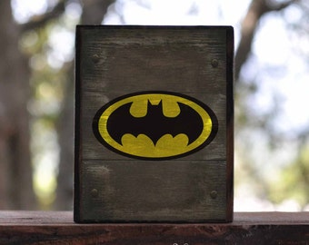 BATMAN, CAPTAIN AMERICA, Catwoman, Flash, Green Lantern Symbols...sign block