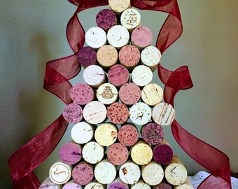 Beautiful Wine Cork Christmas Tree Decoration