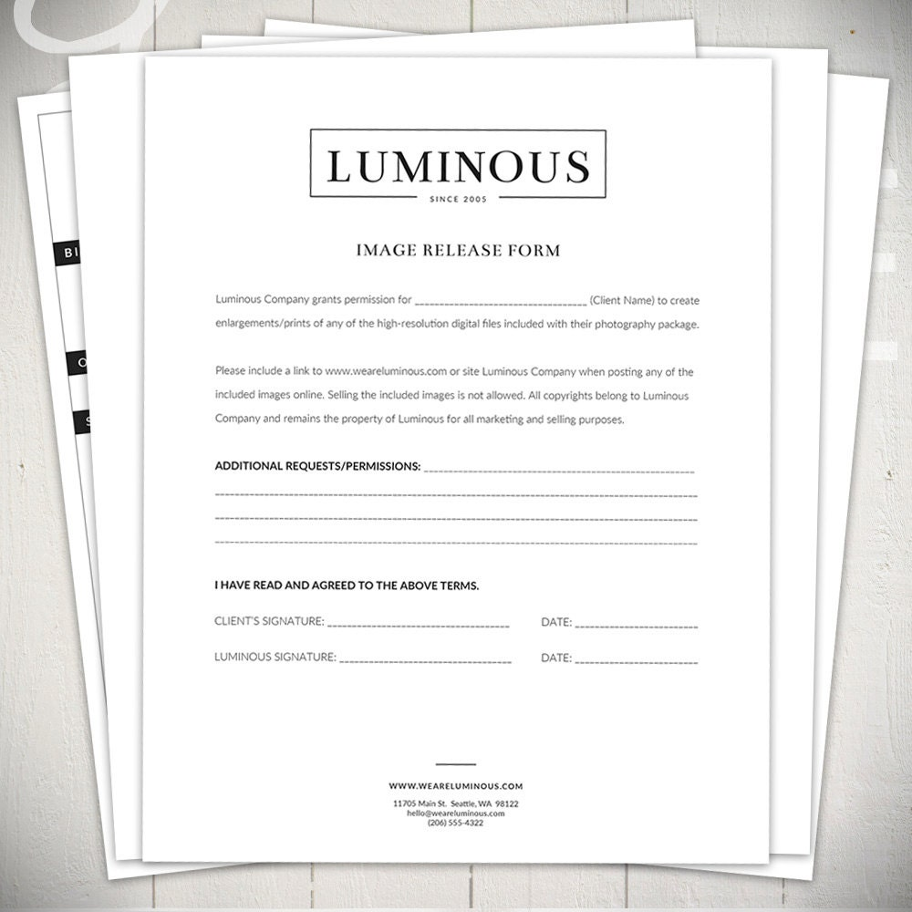 photography invoice photography forms 6 essential contracts and order form templates luminous collection