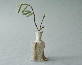 Hazelwood twig vase handmade from antler