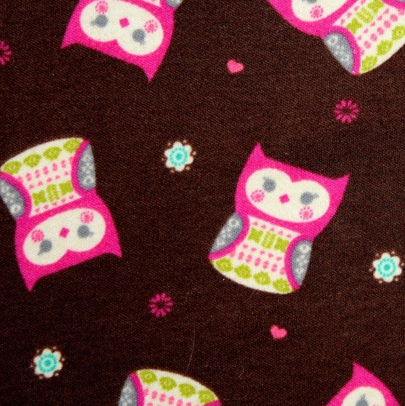 "Jersey knit fabric,Stretch knit fabric,Owl fabric,Juvenile fabric,Soft Jersey Knit,JoAnn Fabrics,Apparel fabric,End of Bolt 32"" x 56"""