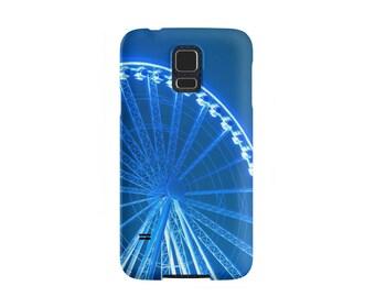 Blue Ferris Wheel Samsung Galaxy Case - Seattle Great Wheel Available for Samsung Galaxy S7 Edge, Galaxy S7, Galaxy S6 Edge, Galaxy S5