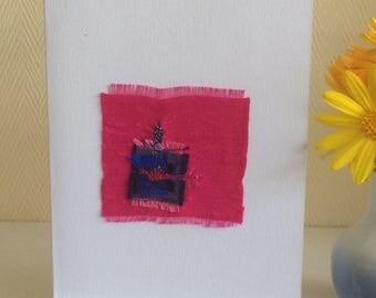 Textile Art - Silk Abstract