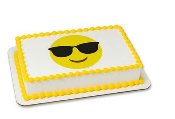 Emoji Emoticon Sunglasses Cake Cupcake Edible Sheet Image Birthday Wedding Baby Shower Party Toppers Favors Many Sizes