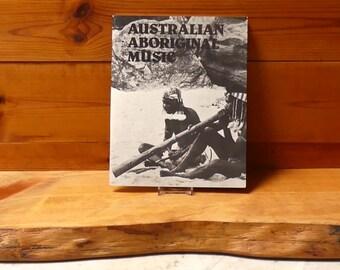 Vintage Book 1970's  Titled  'Australian Aboriginal Music' Circa 1970's