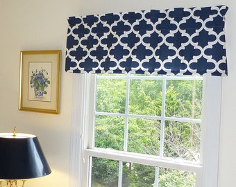 Window Valance – Grey Window Valance Curtain also in Blue, Red, or Black – 52 x 16 or Custom Size Upon Request, Made to Order Flat Valance