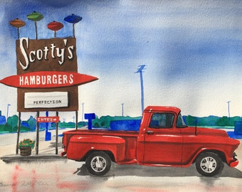 painting from photo car jeep truck