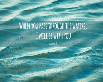 Coastal decor bathroom - Water Photo Beach Bathroom Wall Art Scripture Verses Home Decor