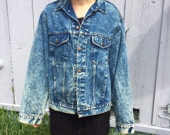 vintage 90s bleached denim jacket
