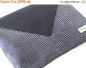 CHRISTMAS SALE Mens Wacom Tablet Case, Unisex Intuos Graphic Tablet Cover, Wacom Intuos Tablet Sleeve, Black Houndstooth suede