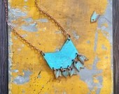 Copper Chevron Necklace with Arrows // SALE! // CYBER MONDAY // Gifts for Her // Stocking Stuffer // Handmade // Vintage //