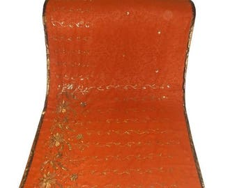 10% OFF on Used Sari in deep mustard Colour /vintage sari/Dress  Making fabric sarong drape Embroidered Sari