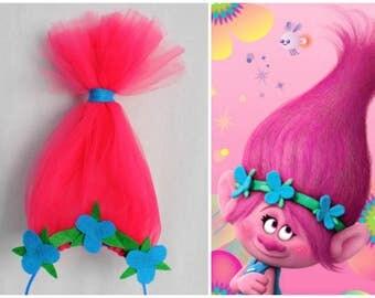 Princess Poppy Troll headband, Troll Party, Princess Poppy, Trolls Headband, Poppy Headband