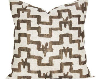 Tulu pillow cover in Umber - ON BOTH SIDES