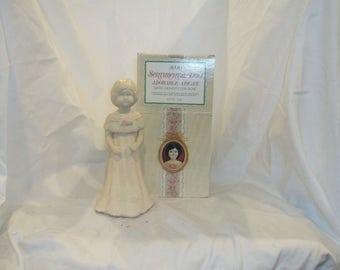 Vintage Avon Sentimental Doll Cologne Decanter, Cologne Bottle Sweet Honesty, Adorable Abigail with box