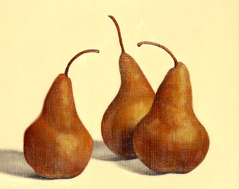 original oil painting of three pears by Ann Osenga