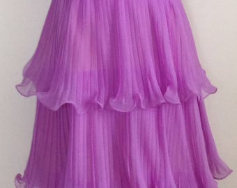 Miss Ellitte tiered ruffle chiffon party dress