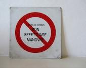 Vintage Metal Italian Sign