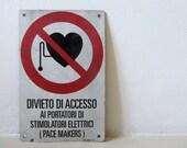 Vintage Italian Metal Sign