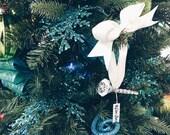 JOY - Diamond Ring Ornament, Engagement Ring Ornament, Christmas Tree Ornament