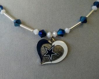 Dallas Cowboys Swarovski Crystal Necklace