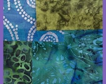 BATIK Fabric 5 x 5 inch Squares Quilting Quilts 29 Colorful Pieces