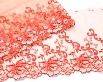 Orange Roses Lace, Orange Floral Trim, Dark Tangerine, Lingerie, Professional Costumes, Lace Fashions, Dolls, Lace Style