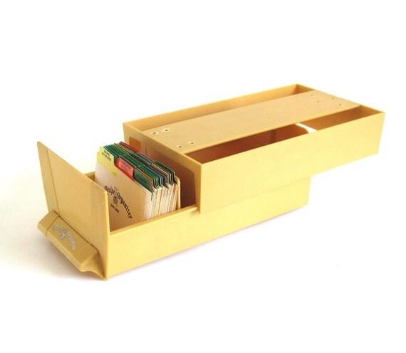Plastic Recipe Card Box Under Cabinet Recipe Drawer Flambeau