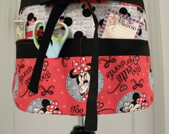Teacher Aprons-Crafter Vendor Utility Apron-Minnie Too Cute For Words