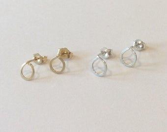 Tiny Teardrop Studs Earrings, Gold Filled, Sterling Silver, Dainty, Minimalist, Weddings, Bridesmaids, Bridal, Handmade Jewelry, Jewellery