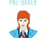 PRE-ORDER David Bowie enamel pin