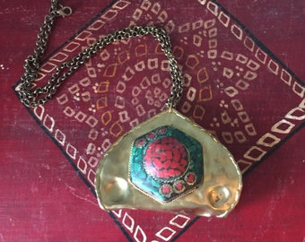 Vintage Brass Bohemian Necklace
