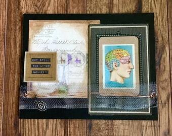 Collage Art, Mixed Media Art, The Brain, Art Collage, Mixed Media, Original Art