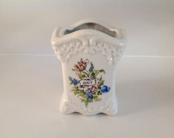 Delfts Handmade Salt (Zout) Keeper, Vintage Salt Holder, Blue and White Salt Cellar
