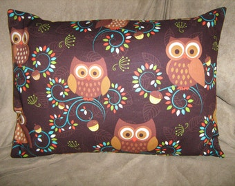 GIVE A HOOT Fabric Out of Print  Travel/Accent/Lumbar pillow cover