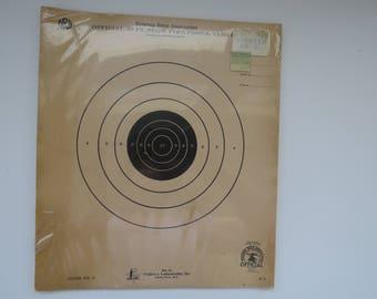 Vintage NRA Pistol Gun Targets - 12 Targets Official NRA B2 50 Foot Slow Fire Pistol Target - SEALED Original Package - Guy Gift - Crafting