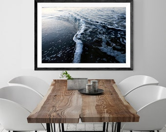 beach photography // beach art print // abstract blue ocean //  beach house modern, minimalist photography print - photograph art print