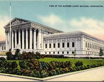 Washington DC, Supreme Court Building - Linen Postcard - Postcard - Unused (D1)