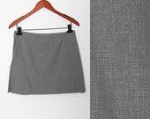 ON SALE Vintage 90s Grey Mini skirt