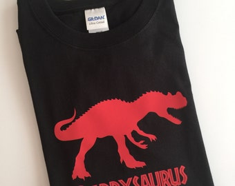Personalized Daddysaurus T Shirt