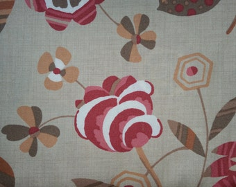 Petite Odile by French General  for Moda oop  tea stained colored background with flowers all over