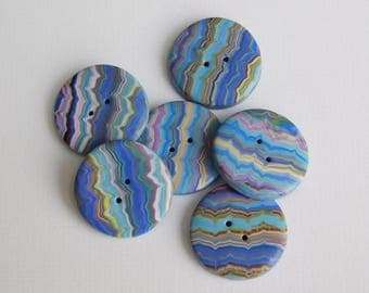 "3/4"" - 19 mm Decorative Polymer Clay Buttons"