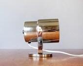 Vintage Adjustable Wall Mounted Chrome Lamp / Light