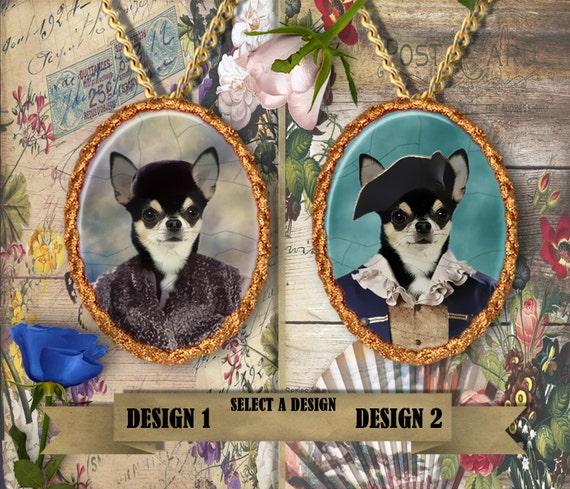 Chihuahua Jewelry Handmade Pendant Chihuahua Dog Jewelry Dog Charm Custom Dog Jewelry Personalized Dog Porcelain Jewelry Chihuahua Gift