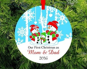 New Parents Ornament Our first Christmas as Mommy & Daddy