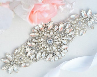 SALE Wedding Belt, Bridal Belt, Sash Belt, Crystal Rhinestones sash belt