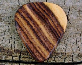 Kingwood - Wooden Guitar Pick - Wood Guitar Pick - Wood Plectrum - Exotic Wood - Wood Gift - Engraved Guitar Pick Option Available
