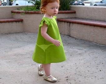 """Marimekko girls dress • Girls green summer dress • Marimekko clothing • Toddler A-line dress • Marimekko """"Kivet"""" • Toddler spring girl dress"""