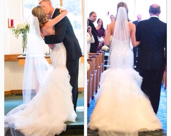 Chapel veil,wedding chapel veil