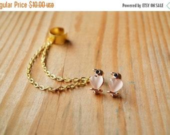 SALE Sweet Love Doves Chain Ear Cuff Earrings (Pair)
